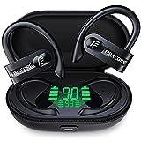 FIRACORE True Wireless Earbuds 72hrs Playtime Digital LED Display Sport Bluetooth Headphones with Wireless Charging Case Deep Bass Waterproof TWS 5.1 Earphones Over EarHook in Ear Built in Mic Headset