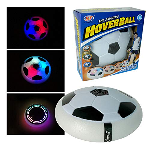MSHK Home Air Power Fußball Set, Sport Indoor Spielbälle Led Beleuchtung Schaum Stoßstangen Outdoor Air Bäll Disc