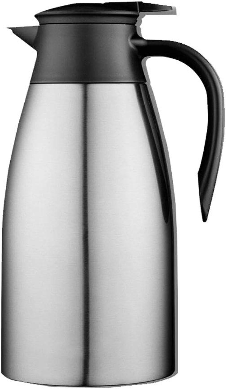 LRXG Edelstahl Pumpe Aktion Isolierflasche Krug - Ideal heiße und kalte Getränke Getränke Tee Kaffee Wasser groß (2L) B07MV295KS  Starke Hitze- und HitzeBesteändigkeit