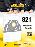 TopFilter 821, 4 sacs aspirateur pour Electrolux et Tornado boîte de sacs d'aspiration en non-tissé, 4 sacs à poussière (30 x...