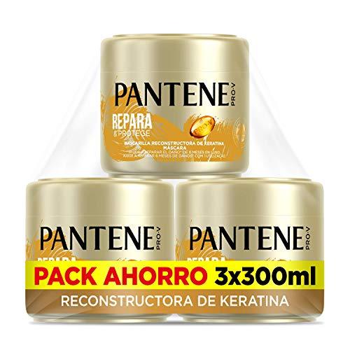 Pantene Repara Y Protege, Mascarilla Pelo Seco Y Dañado, Tratamiento Reconstructor De Keratina, 3 mascarillas de 300 ml