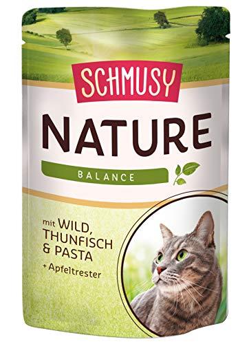Schmusy Katzenfutter Nature Balance Wild+Thunfisch 100 g, 24er Pack (24 x 100 g)