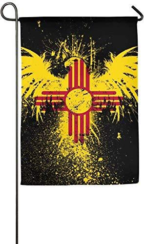 New Mexico Sun Zia Veranda Hof Hausgarten Fahnen 12 X 18 Zoll Polyesterfaser Emblemize