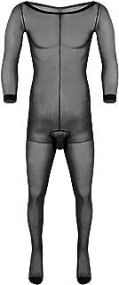 Men's Adult Skinny Stretchy Stocking Long Sheath Full Body Closed Toe Ultra-Thin Pantyhose