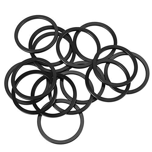 Taidda- Resistencia a la corrosión Resistencia al Aceite Soporte Inferior de Bicicleta Lavadora Junta del Volante, Lavadora de Bicicletas, Resistencia al Calor para Ciclista Excelente(Black)