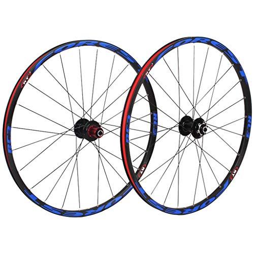 26 Pulgadas Montaña Juego De Ruedas De Bicicleta, MTB Ruedas De Ciclismo Freno De Disco Rodamientos Sellados Compatible 8 9 10 11 Velocidad Negro Deportes (Color : A, Size : 26inch)