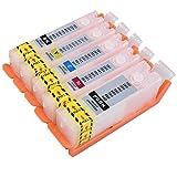 YZQ キャノン (CANON) 5色 BCI-380 BCI-381 互換 詰め替えカートリッジ(インクなし) 永遠 チップ 付き, キャノンCanon PIXUS TS6330 TS7330 TR703 TS6130 TS6230 TR7530 TR8530 TR9530 に適用する