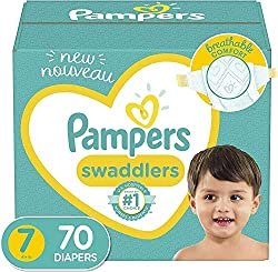 top 10 adult size pampers Diaper size 7, 70 pieces – Pampers Swaddler disposable diapers, giant packs