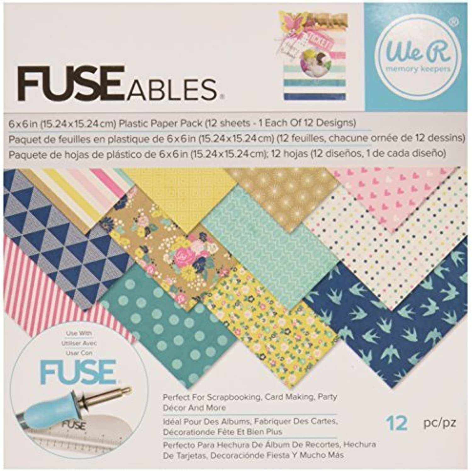 We R Memory Keepers 12 Sheet Fuseables Fuseables Fuseables Patterned Paper Pack, 6 x 6 by We R Memory Keepers B01KBAW506   ein guter Ruf in der Welt  b10347