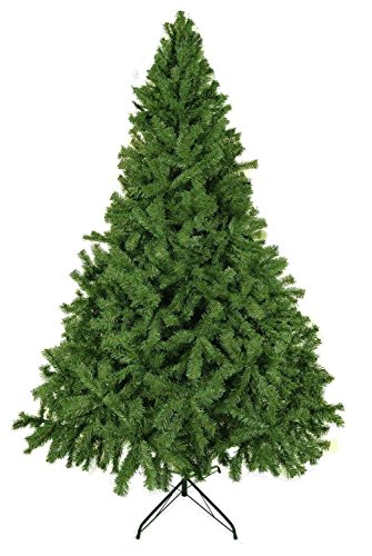 Luxury 5ft 6ft 7ft 8ft 9ft 10ft 12ft Green Artificial Christmas Trees -Bushy High Tip Count Xmas Trees (7ft / 210cm)