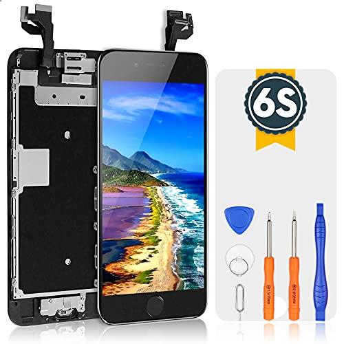 bokman Écran Tactile LCD pour iPhone 6s Noir Vitre LCD Ecran Assemblé avec Bouton Home, Capteur de Proximité, Écouteur, Caméra Frontale et Kit de Réparation