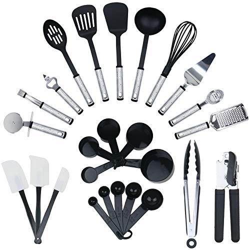 KRONENKRAFT® 26 teiliges Küchenset Küchenzubehör, Kochset, Küchenutensilien Set - Zum Kochen für die ganze Familie
