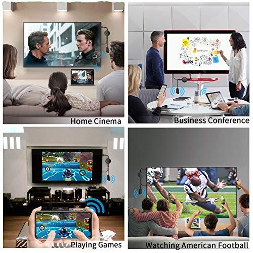 MPIO Wireless HDMI 4K HDR WiFi HDMI Dongle Streaming für Android/iOS/Windows/Mac OS-Laptop, Telefon, Tablet, PC zu HDTV/Monitor/Projektor (Unterstützung Miracast, DLNA, Airplay)