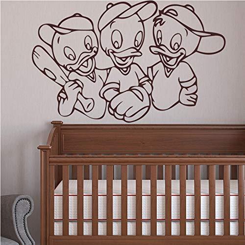 hetingyue Baseball Ente Wandaufkleber selbstklebend Kunst Tapete Wohnzimmer 87x67cm