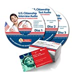US citizenship test study guide 2020. 3 CDs + 100 Illustrated Flashcards -Citizenship Test Jr. Pack