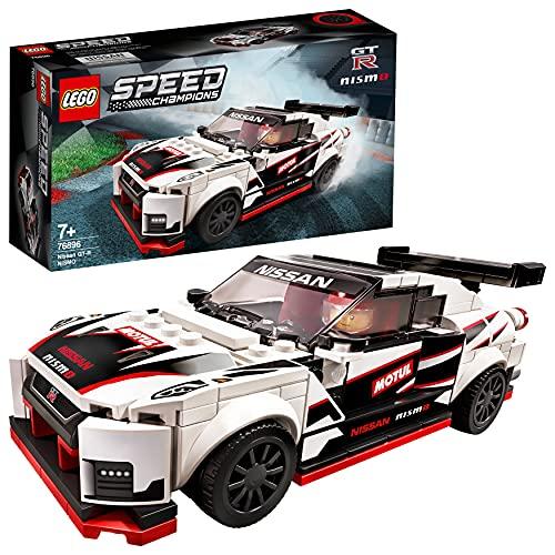 LEGO76896SpeedChampionsNissanGT-RNISMOJuguetedeConstruccióndeIcónicoCochedeCarrerasconMiniFigura