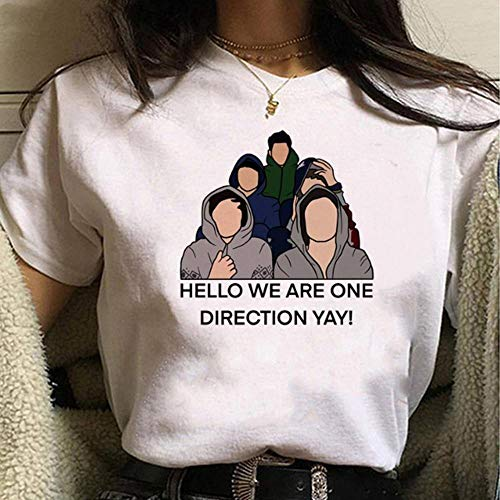 XCLWL Camiseta De Mujer Dirección Camiseta De Dibujos Animados para Mujer Tratar A Las Personas con Bondad Camisetas Gráficas Camiseta Femenina-A-16_M