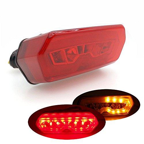 Heinmo Moto universel LED Feu arrière de frein arrière Arrêt tourner Signal lampe LED Rouge de frein arrière Feux arrière Lampes