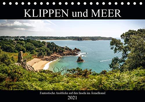 Klippen und Meer. Fantastische Ausblicke auf den Inseln im Ärmelkanal (Tischkalender 2021 DIN A5 quer)