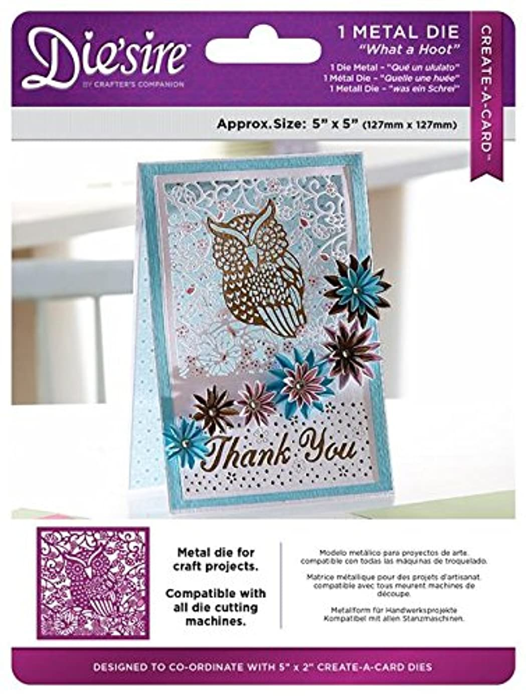 Create-a-Card DS-CAD What A What A Hoot Die'Sire Metal Dies, Multicolor