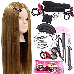 top 10 hairdressing mannequin heads Neverland Beauty 24inch 50% Human Hair Training Head Hairdresser Mannequin Head Makeup …