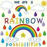 59PCS Motivational Rainbow Bulletin Board...