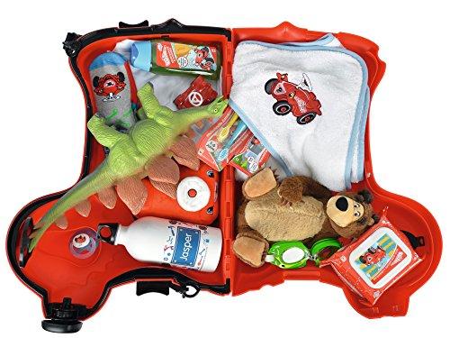 BIG 800055350 – Bobby-Trolley, Kinderkoffer, Kindergepäck, rot - 5