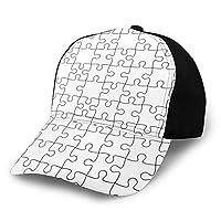 野球帽 ベースボールキャップ スナップバックキャップ 練習帽 レディース ゴルフ帽子 ジグソーパズル柄 ランプ帽子 調節可能 ローキャップ スポーツ帽子 ポニーキャップ 大きい帽子 日よけ帽 カジュアル CAP メンズ