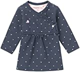 Noppies G Dress ls Nevada-67364 Robe, Bleu (Navy C166), 9 Mois Bébé Fille