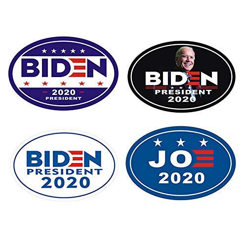 Goldenleaf 4-Pack Biden Harris 2020 Car Magnet for President 2020United States Flag Magnet, 6' x 4' Magnetic Bumper Sticker Oval (6'x4', Biden)