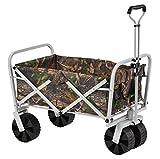 Muscle Carts FBW3621-CAMO Collapsible Folding Utility Wagon, Camo