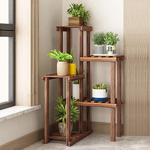 Yxsd massief houten woonkamer bloemenrek voor binnen en balkon decoratie bloempot multi-layer vloer type Space Plank