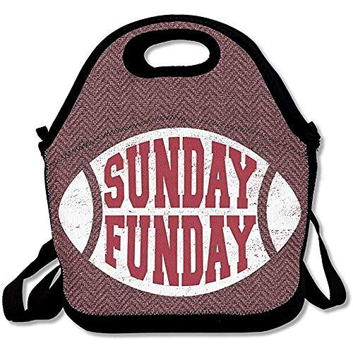 Warmwaterkruik Sunday Funday volwassenen lunchtas rits kids schoudertas met handvat zwart
