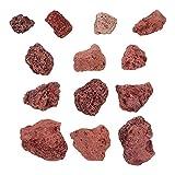 iplusmile - Suministros para animales (500 g, tank Stone acuario, sótano, acuario, acuario, decoración de acuario, color rojo oscuro)