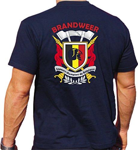 Feuer1 T-shirt (Navy/bleu Marine) Brandweer - Sapeurs Pompiers de Belgique, Multicolore