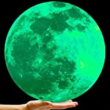 Bollepo Glow in the Dark Moon Wall Art Stickers - Night Light Glowing Wall Decal with Removable Adhesive for Boy and Girl Bedroom, Party Decor, Child's Playroom, Baby Nursery or Classroom -11.8''/30cm