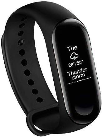 NALMAK M3 Sweatproof Smart Fitness Wrist Band with Heart Rate Sensor Pedometer, Sleep Monitoring Blood Pressure Functions for Smartphones (Black)