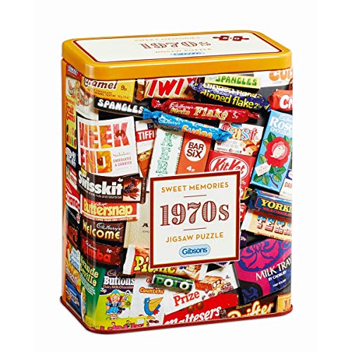 Gibsons 1970s Sweet Memories Jigsaw Puzzle Gift Tin