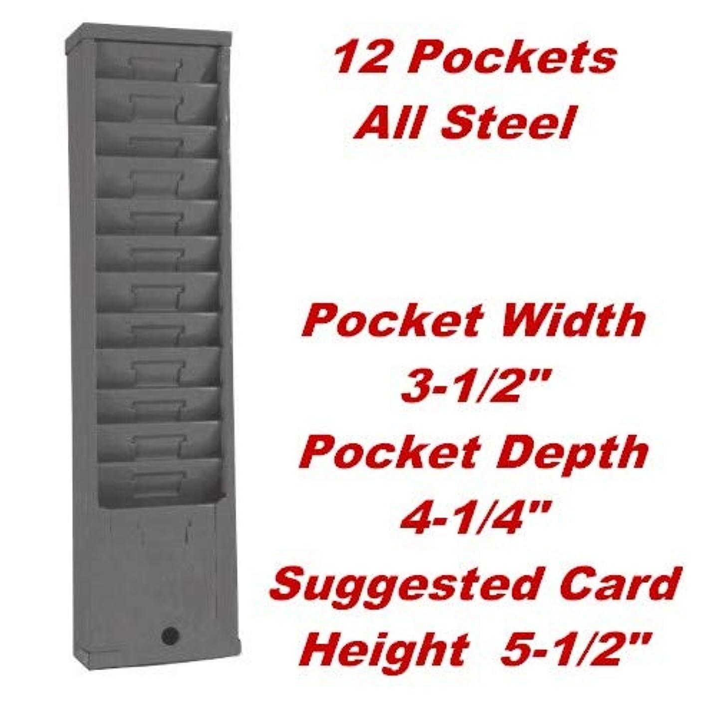 レバー不健全ディスクVicsカンバンタイムカードホルダーラック、Anthemモデル155h、12-pocket、グレー