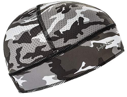 Halo Headband Skull Cap - The Ultimate Sweat Diverting, Absorbent, Lightweight, High Performance Skull Cap , Camo Grey