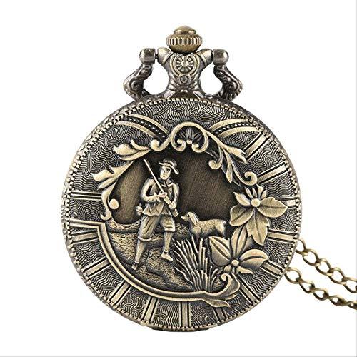 Qwasz zakhorloge ketting bloem afdekking klassieke Arabische schaal klok hanger halsketting geschenk