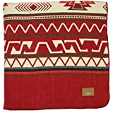 Inca Ecuadorian Blanket - Aztec/Mexican/Southwest Artisanal Style - Use As Fall Throw Blanket, Camp Blanket, or Cover for Indoors and Outdoors (Bright Red, X-Large)