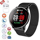 Smartwatch per Donna Uomo, IP68 Impermeabile smartwatch orologio fitness +Bluetooth Fitness Tracker...