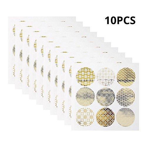 90 Stucke Aufkleber, Siegel Aufkleber, Gold Runde Gleiten Transparent Cookie Ei Kuchen Anhaftender, für Pralinenschachtel Dekorative Aufkleber