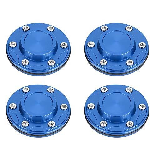 Outbit Radmitte Kappe - 4pcs Sechskantmutter Radmitte galvanisierte Aluminiumlegierung 4.2in (blau)