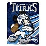 Titans Football 46x60 Mickey Mouse Micro Raschel Plush Blanket Throw