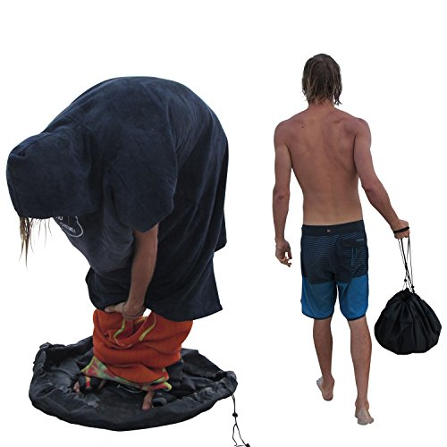 Ho Stevie! Durable Wetsuit Changing Mat/Waterproof Dry-Bag for Surfers (Black)