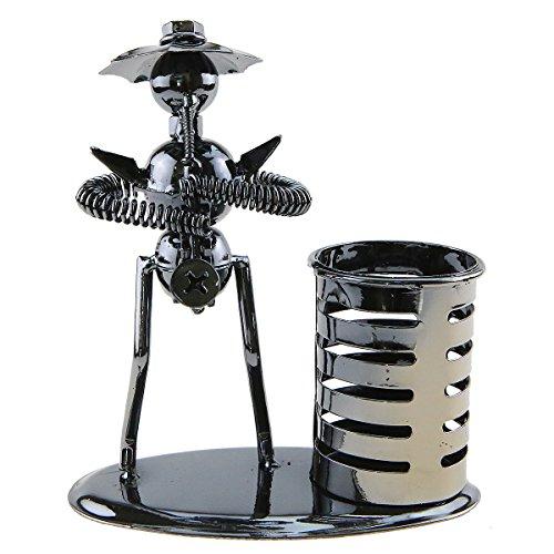 Metall Eisen Art Musik Man Instrument Performer mit Hat Musiker Figur Stift Container Halter Bleistift Cup für Home Office Schreibtisch Dekoration Creative Geschenk A2008 Saxophone