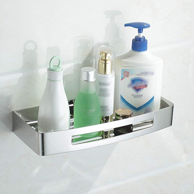 Chuangshengnet 304 Stainless Steel Bathroom Rack Double Shelves Shelf (Size   A)