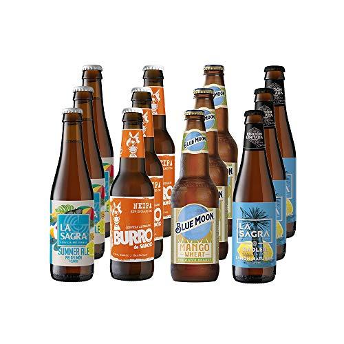 La Sagra Pack Degustación de Cervezas Artesanal Edición Verano - 12 botellas x 330 ml - Total: 3960 ml